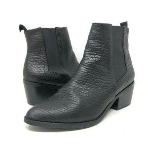 Sol Sana Edgar Leather Chelsea Boot Black Pebbled
